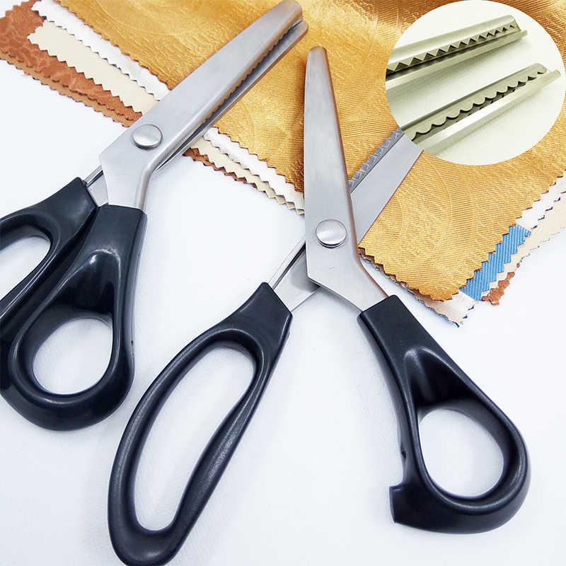 Tijeras de Pinking de acero inoxidable para manualidades profesionales, tijeras de corte Zig Zag, tijeras de costura, tela