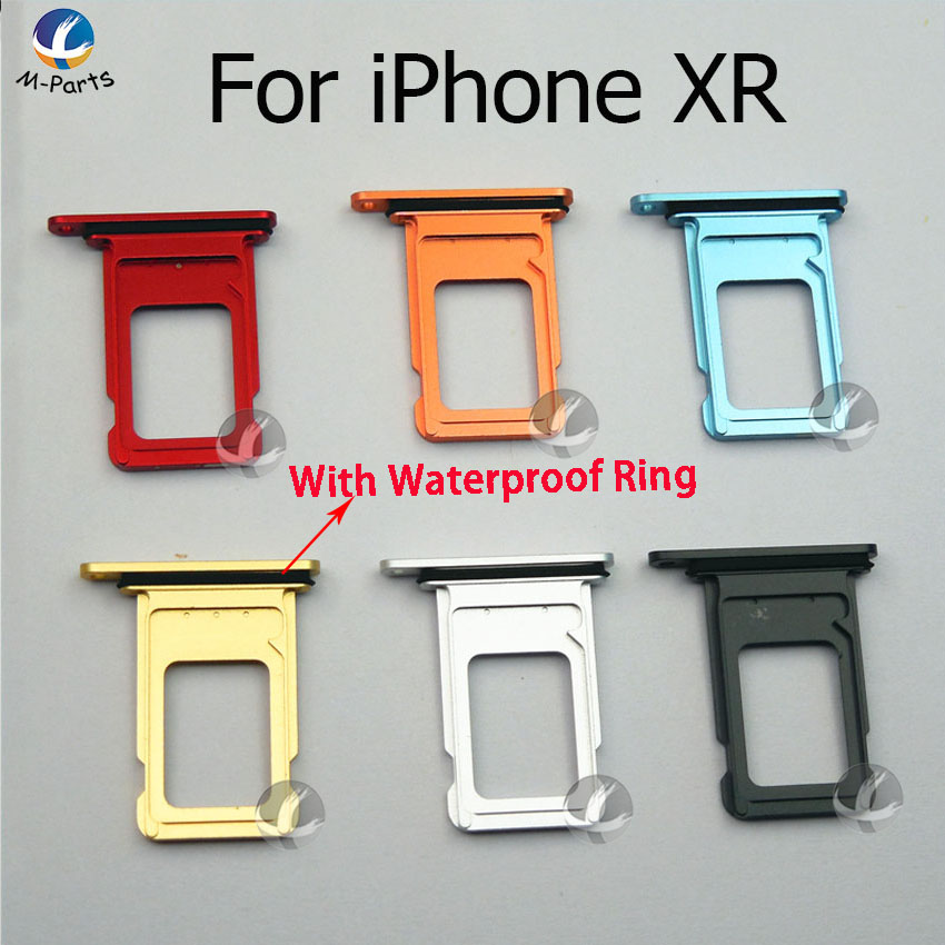 All New Single Dual SIM Card For IPhone XR Reader Connector Socket Tray Holder Slot Module Replacement Parts