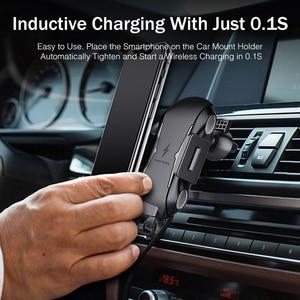 Image 3 - 아이폰 XS 맥스에 대한 YKZ 제나라 무선 차량용 충전기 화웨이 xiaomi에 대한 삼성 S10 빠른 무선 충전기 자동차 마운트 휴대 전화 홀더