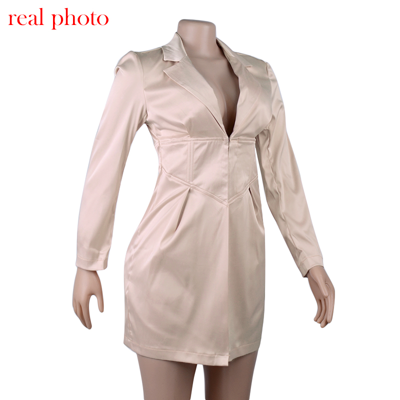 Long Sleeved Buttoned Dress