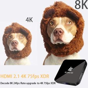 Image 5 - Transpeed android 9.0 8k 4k caixa de tv 4gb 64 youtube bluetooth 4.1 1000m 2.4g e 5g wifi amlogic s905x3 conjunto caixa de tv superior