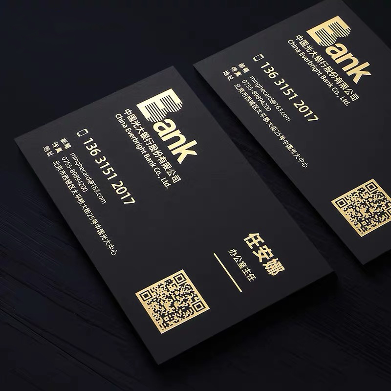 Custom Business Card Printing Personalized Thick Special Paper Hot Gold Foil Stamping Print Smooth Touch 350gsm/700gsm 200pcs