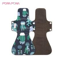 Pad Mora Mona Reusable Menstrual-Pad Sanitary-Napkin Bamboo-Charcoal 5-Pcs Mama Feminine