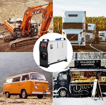 VEVOR-calentador de aire diésel de 5KW, dispositivo todo en uno de 12V con interruptor LCD y mando a distancia, para coches, furgonetas, camiones, autocaravanas, barcos y remolques 2