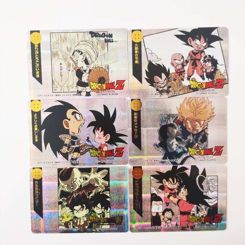 18pcs/set Dragon Ball Z Q Super Saiyan Goku Vegeta Game Action Toy Figures Commemorative Edition Collection Cards Free Shipping