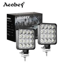 Aeobey Led light bar 48w 16barra Led car light For 4x4 led bar offroad SUV ATV Tractor Boat Trucks Excavator 12V 24V work light