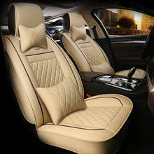 HLFNTF Leather Universal Car Seat Covers for Toyota Corolla Camry Interior Accessories Automobiles Seat Covers car-styling car covers cushion para funda automovil protector asientos coche car styling automobiles cubre auto accessories car seat covers