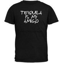 Camiseta de verão do adulto do preto do meu amigo