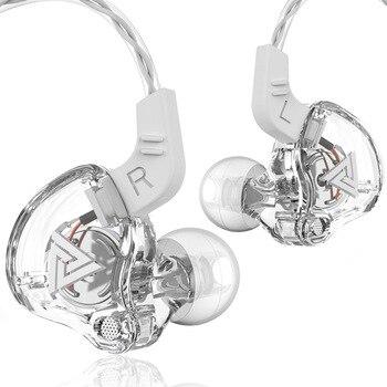QKZ AK6 3.5mm Wired Headphones Copper Driver Stereo HiFi Earphone Bass Earbuds Music Running Sport Headsets Games Earphones 2