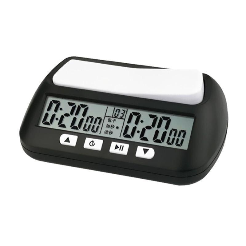 Profesyonel satranç saati kompakt dijital saat sayım aşağı zamanlayıcı kurulu oyunu kronometre Bonus rekabet saat metre damla gemi|Satranç Setleri|   -