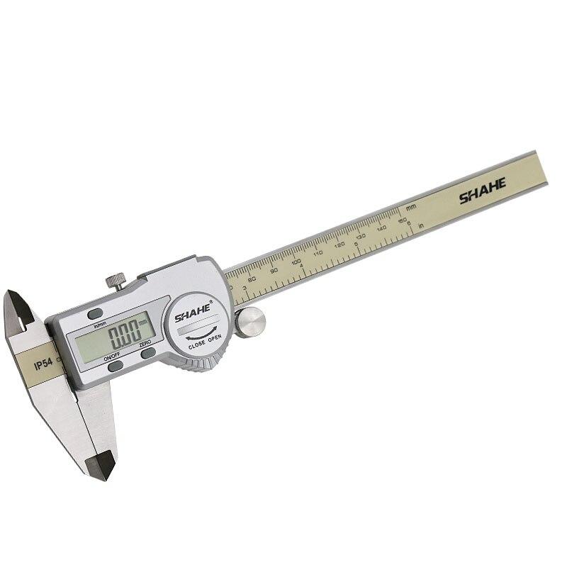 Jauge d/épaisseur de vernier 0-150mm 0-6 pouces en acier inoxydable outil d/étrier de profondeur r/églable Pied /à coulisse de pr/écision r/ègle de mesure microm/ètre