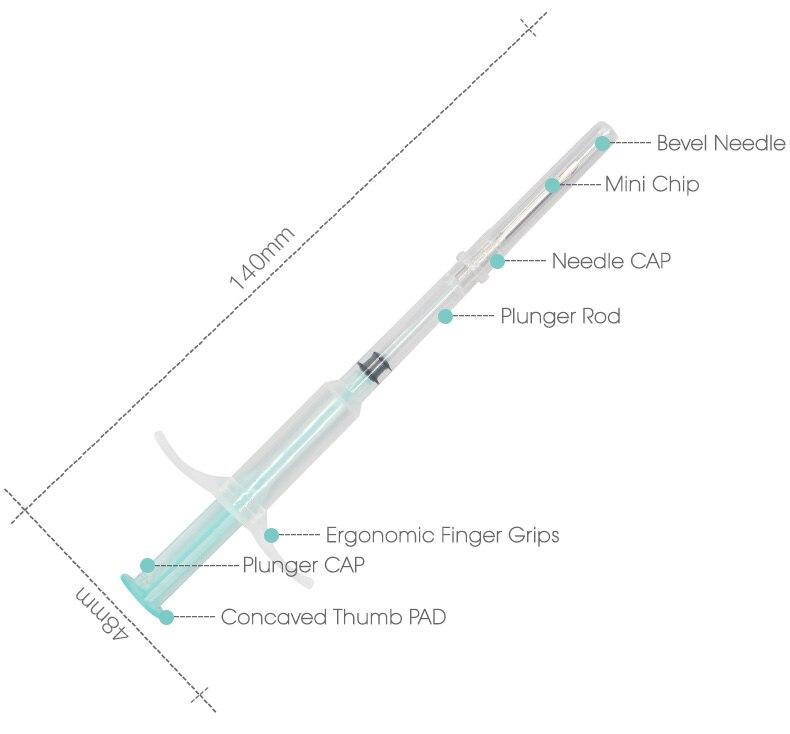 1.25*7mm Pet Microchip Animal Syringe ID Chip RFID ISO FDX-B Fish Dog Tag Pig Cow PET 11784 11785 Green