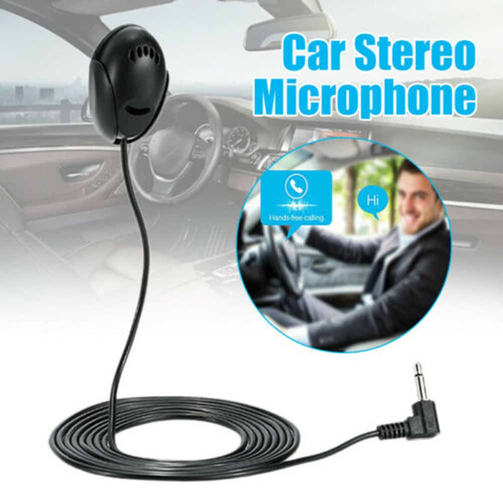 Car Navigation GPS Microphone Car Speaker External Microphone Paste Microphone 3.5mm Car Stereo Microphone