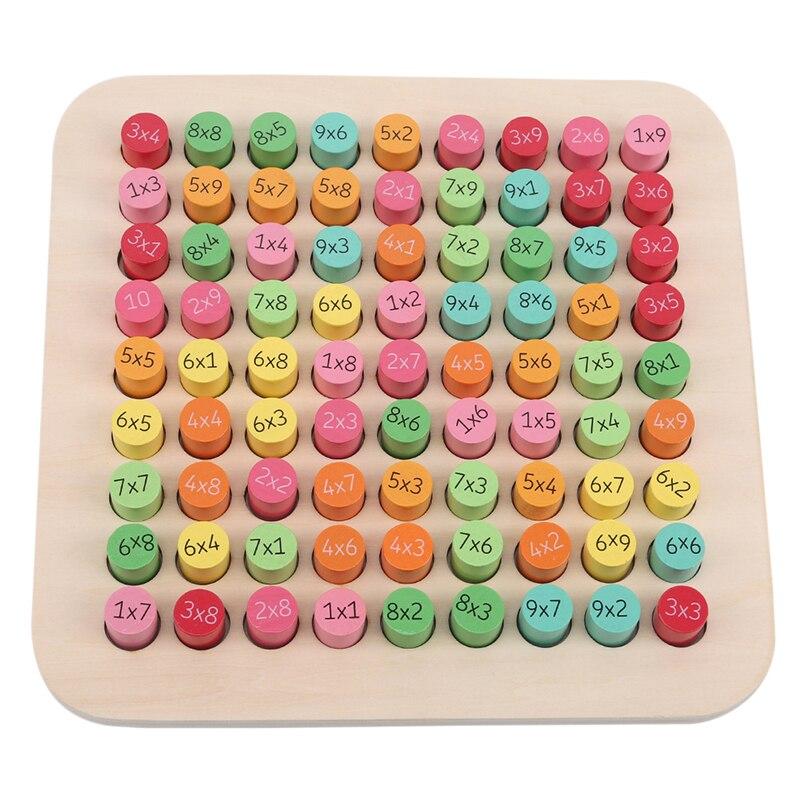 Деревянные игрушки, таблица умножения, Детская математическая игрушка, арифметика, раннее обучение, учебные пособия для детей, обучающая иг...