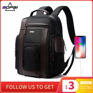 Image 1 - BOPAI New Black Multi Pocket Men Backpack Business Solid Nylon Men Daypacks Mochila Bags Convenient USB Charging Backpack Women