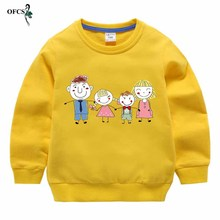 Boys Full Hoodies Kids Sweatshirt Toddler Girls Cotton Cartoon Baby Tops Knit Jumper Autumn Children Clothes 2-12 Year Retail cheap OFCS Without Fashion ModaL Fits true to size take your normal size Regular Unisex Neutral for Both Men and Women zhong xiao tong (3 to 8-Year-Old 100-140cm)