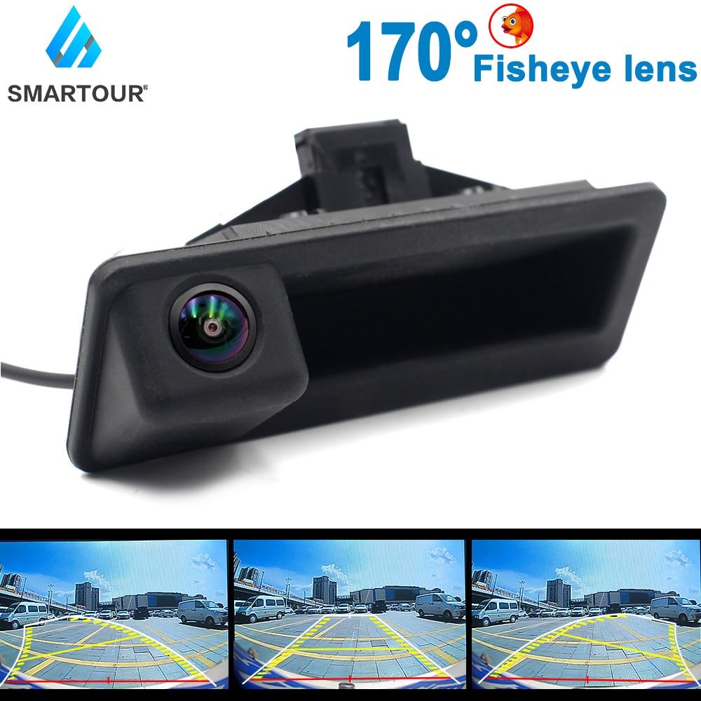 Автомобильный HD 1080P рыбий глаз трек автомобильный Реверсивный резервный багажник ручка камера для BMW 3 серии 5 серии X5 X6 E46 E39 E60 E70 E82 E90