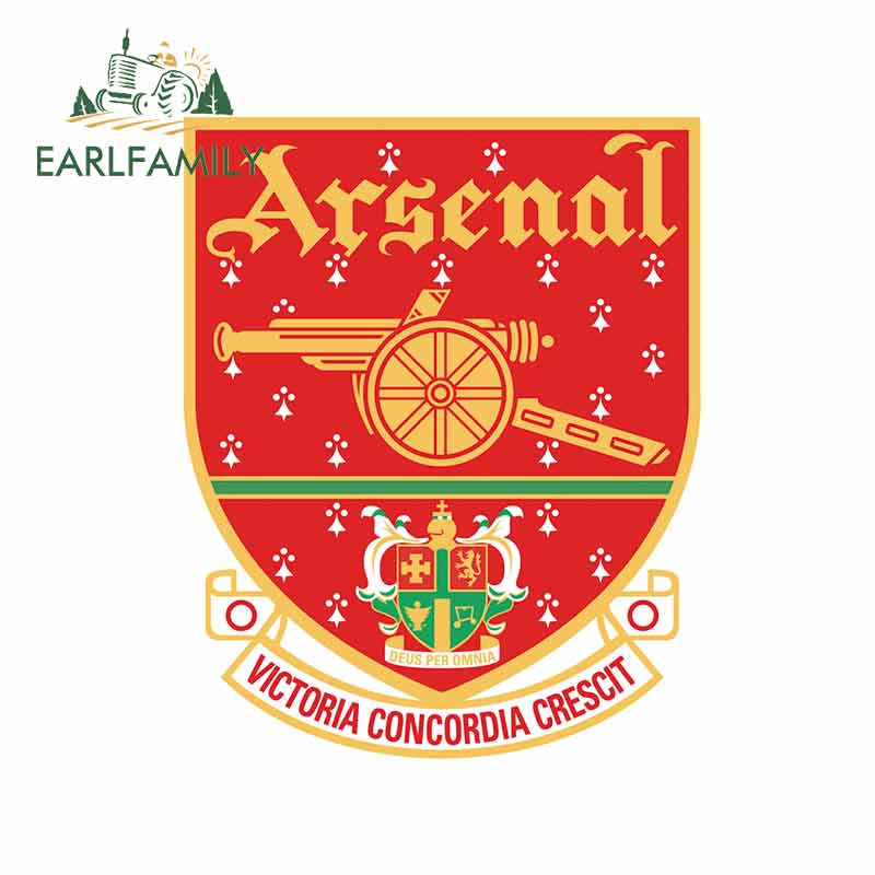 EARLFAMILY 13cm X 10.7cm For Arsenal_london_20012002_logo Fine Decal Fashion Waterproof Car Accessories Laptop Car Stickers