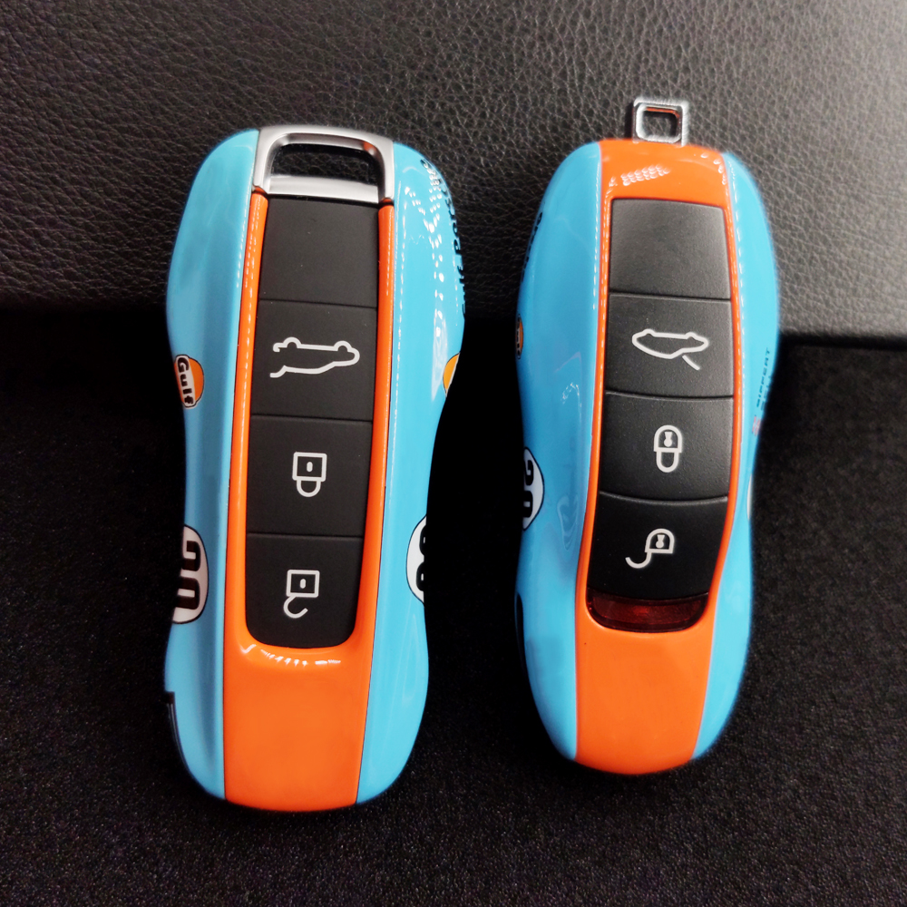 Key Case Cover For Porsche Cayenne Panamera 971 911 9YA Macan Boxster Carman Remote Alarm Key Case Cap Shell NO 20 Racing Style