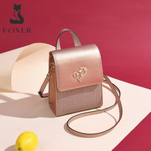 FOXER Brand Lady Cellphone Bags Female Leather Shoulder Bag Girls MINI Crossbody Bags Women Evening bag Valentines Day present