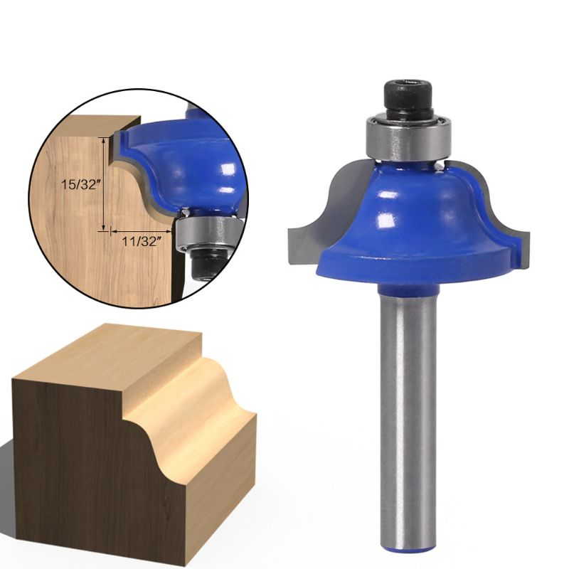 1/4″Shank Roman Ogee Router Bit Double Edging Flutes With Bearing Woodworking Te