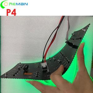 Image 2 - Thâm quyến Quảng Châu Đèn Led nhà xưởng sản xuất trong nhà cong mềm mại Màn hình LED MODULE P4 64x32 32x32 LED ma Trận