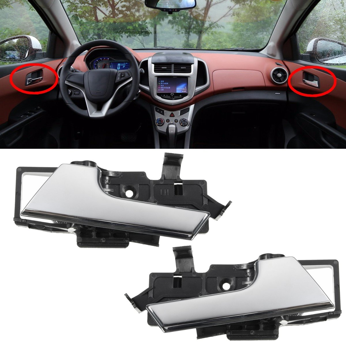 96462710 Auto Interieur Deurklink Rechts/Links Voor Chevrolet Aveo 2007 2008 2009 2010 2011 Aveo5 Voor Pontiac G3 auto Styling