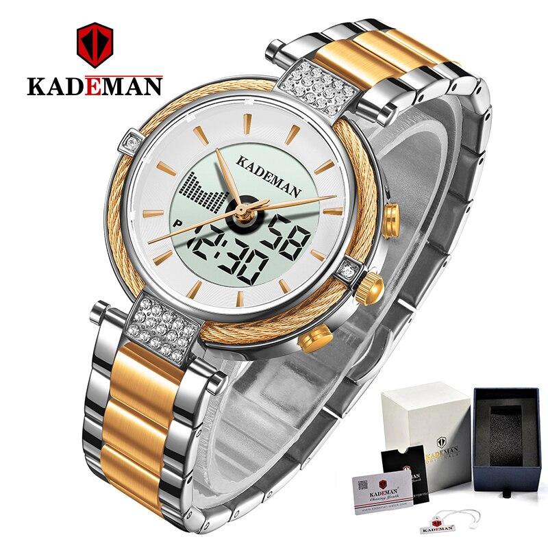 KADEMAN Frauen Uhren LCD Luxus Neue Geschenke Dame Digitale Uhr Mode Mädchen TOP Marke Armband Elegante Weibliche Business Armbanduhr-in Damenuhren aus Uhren bei title=