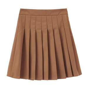Image 5 - INMAN 2020 Spring New Arrival Literary Preppy Style Age reducing High Waist Pleated Skirt