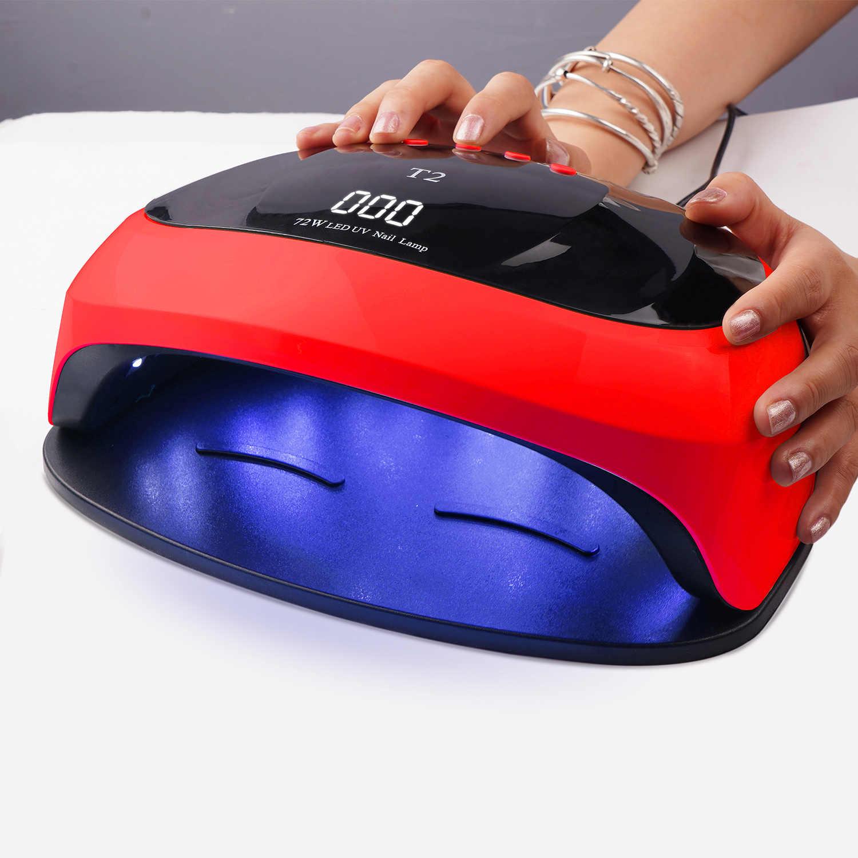 נייל מנורת 72W 36 חרוזים UV LED עם 4 טיימרים הגדרת LCD תצוגת נייל מנורת ייבוש מנורה עבור ג 'ל לכה אמנות כלי
