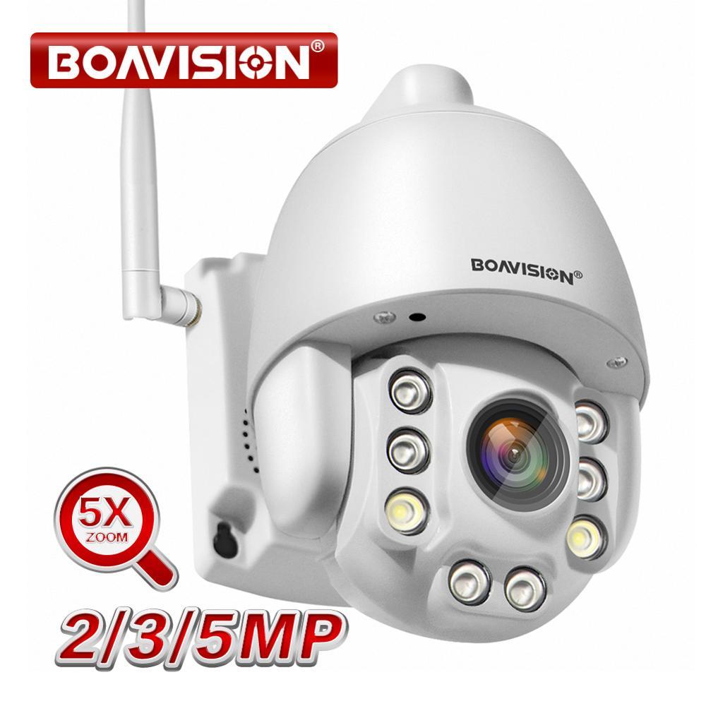 Wifi de la cámara PTZ IP 1080P 3MP 5MP Super HD 5X Zoom de dos vías de Audio inalámbrico de PTZ Cam al aire libre 60m IR Video cámara de seguridad de Casa P2P