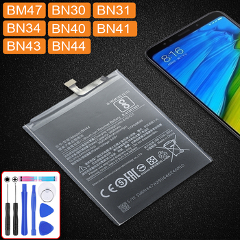 For Xiaomi Redmi 5 Plus 4X 3X 3S 3 4/ Note 4 4X 5A Pro For Xiao Mi 5X Mi5X Battery BN 44 BM47 BN30 BN31 BN34 BN40 BN41 BN43 BN44 image