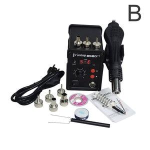 Image 2 - Паяльная станция Eruntop 858D + + SMD ESD, 110 В/220 В, 700 Вт, СВЕТОДИОДНЫЙ Цифровой паяльник, пистолет горячего воздуха, паяльник обновленный 858D