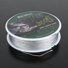 1 шт. 100 м PE плетеная рыболовная леска из ПЭ плетеная леска с 4 нитями мульти-нити рыбы леска шнур очень прочный рыболовный линии