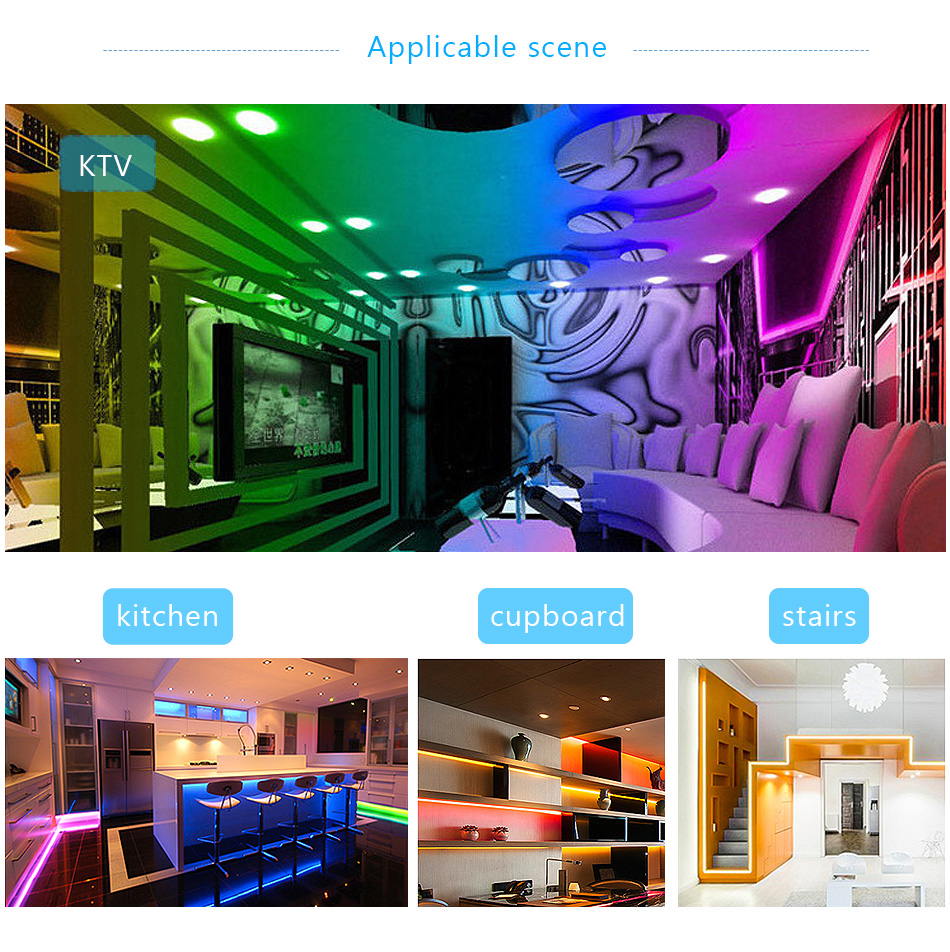 Bluetooth LED Strip Light RGB SMD 2835 DC12V 5M 10M 15M 20M Flexible RGB LED Stripe Ribbon Diode Backlight For Home kitchen TV (14)