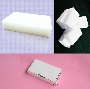 Image 2 - Esponja de melamina con Borrador de esponja mágica, accesorio limpio para cocina, baño y oficina, 100 Uds., venta al por mayor, 10x6x2cm