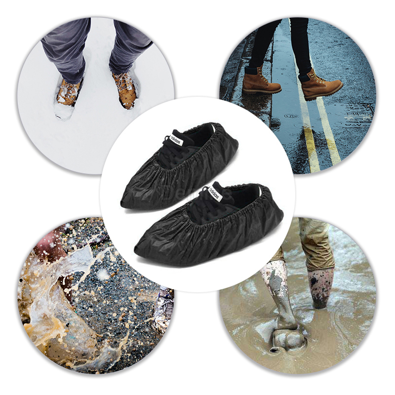 DEMINE Durable and Waterproof Shoe Protector with Anti Slip Sole for Outdoor Activity in Rainy Days Also Suitable for Mud Beach and Snow 3