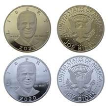 Joe biden president памятная монета сувенир вызов Коллекционная