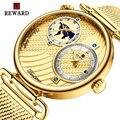 Награда часы Мужские лучший бренд класса люкс Dual Time Zone деловые водонепроницаемые часы из нержавеющей стали Авто Дата модные с японским часо...