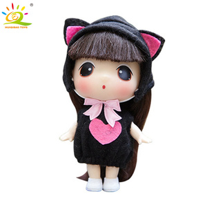 9cm Ddung Mini Dress up Doll Korean Anime 5 Joints Moving Baby Cute Children Bag key Pendant Keychain Dolls Toys For kids Girls(China)