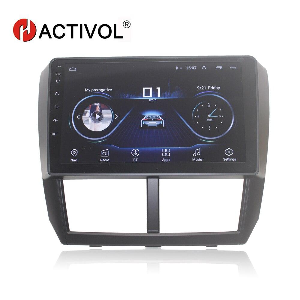 HACTIVOL Quadcore 2 Din Android 8.1 Car Radio For Subaru Forester Impreza 2008 2009 2010 2011 2012 Car DVD Player Bluetooth