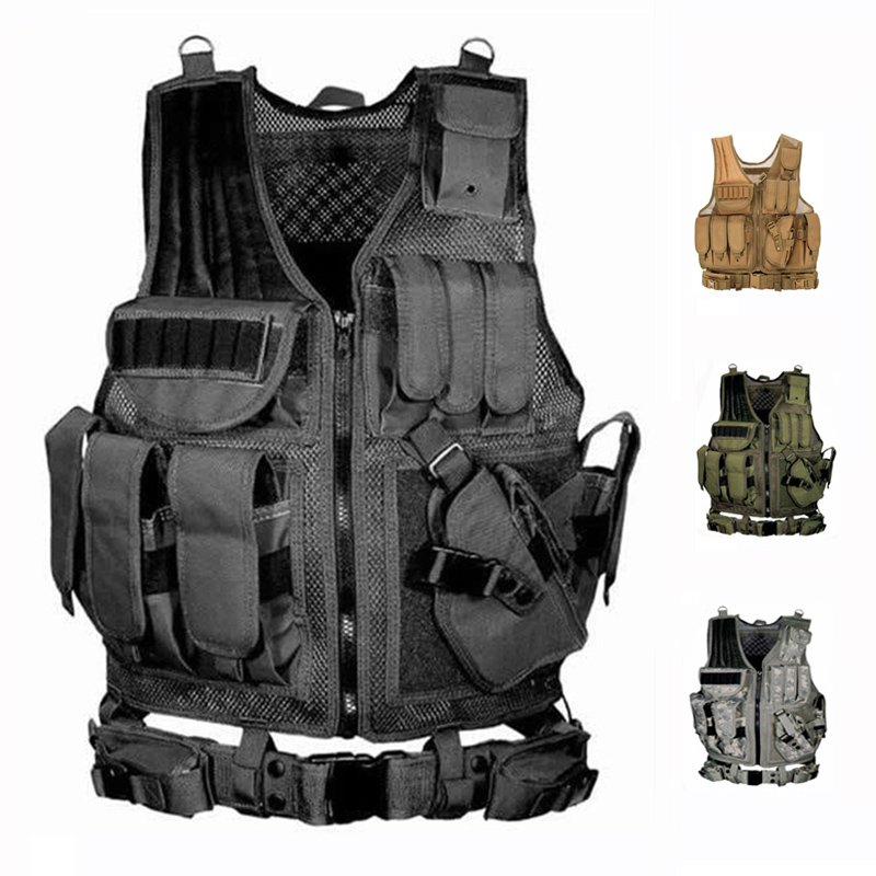 Tactical Vest Military Equipment Air Gun Hunting Vest Training Paintball Air Gun Combat Protective Vest CS Wargame 4 Colors