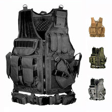 Tactische vest militaire apparatuur lucht pistool jacht vest training paintball air gun combat beschermende vest CS Wargame 4 kleuren(China)