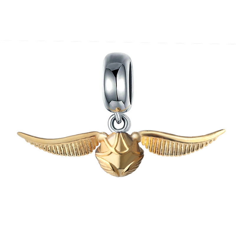 StrollGirl beads fit original European pendant bracelet for 925 silver charms classic Golden Snitch diy jewelry making for gift