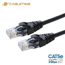 Câble Lan CABLETIME Cat5e RJ45 cordon de raccordement LAN Cat 5e câble Internet réseau FTP pour ordinateur portable Dell Acer câble Ethernet C287