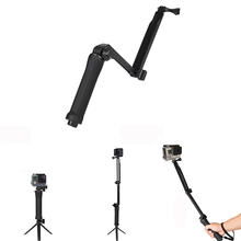Get more info on the Go pro Accessories 3-Way Hand Grip Tripod Monopod Selfie Stick for Gopro7 6 5 4 3 SJ8Pro Yi 4K DJI OSMO Action Camera H8 H9R