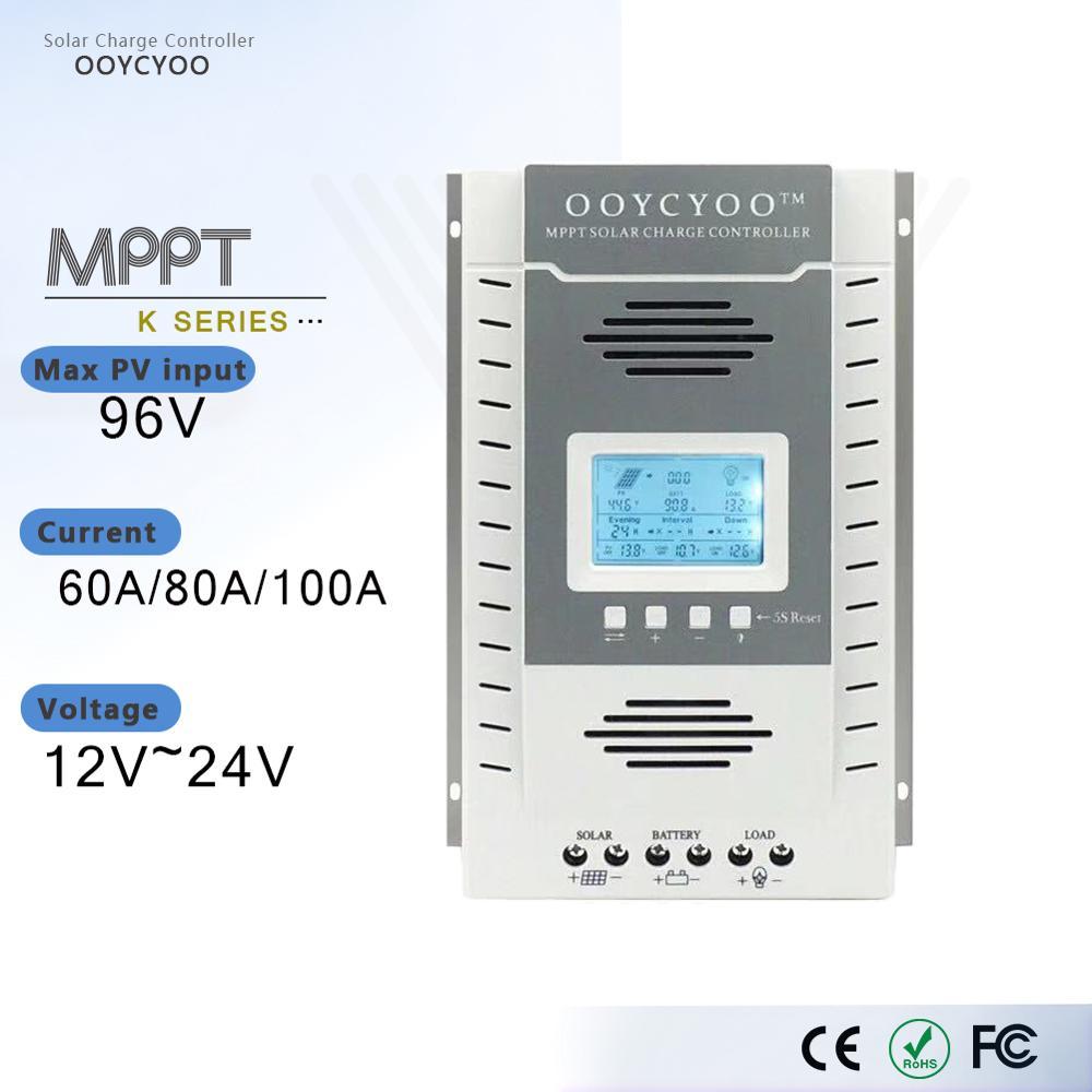 MPPT Solar Charge and Discharge Protection Controller For 96V Solar Panel 60A 80A 100A 12V 24V Battery Regulator 5V Output USB