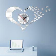 Большие 3d бесшумные цифровые настенные часы современный дизайн