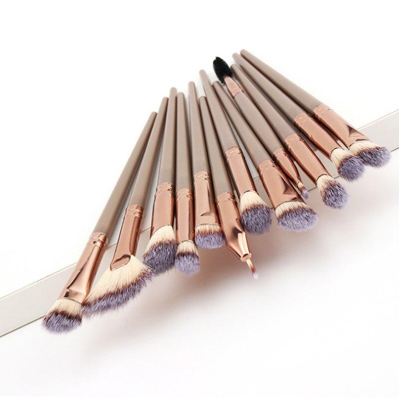12PCS Makeup Brushes Set Eye Shadow Eyeshadow Brushes Foundation Extension Make Up Brush Kits Pincel Maquiagem For Makeups Tools