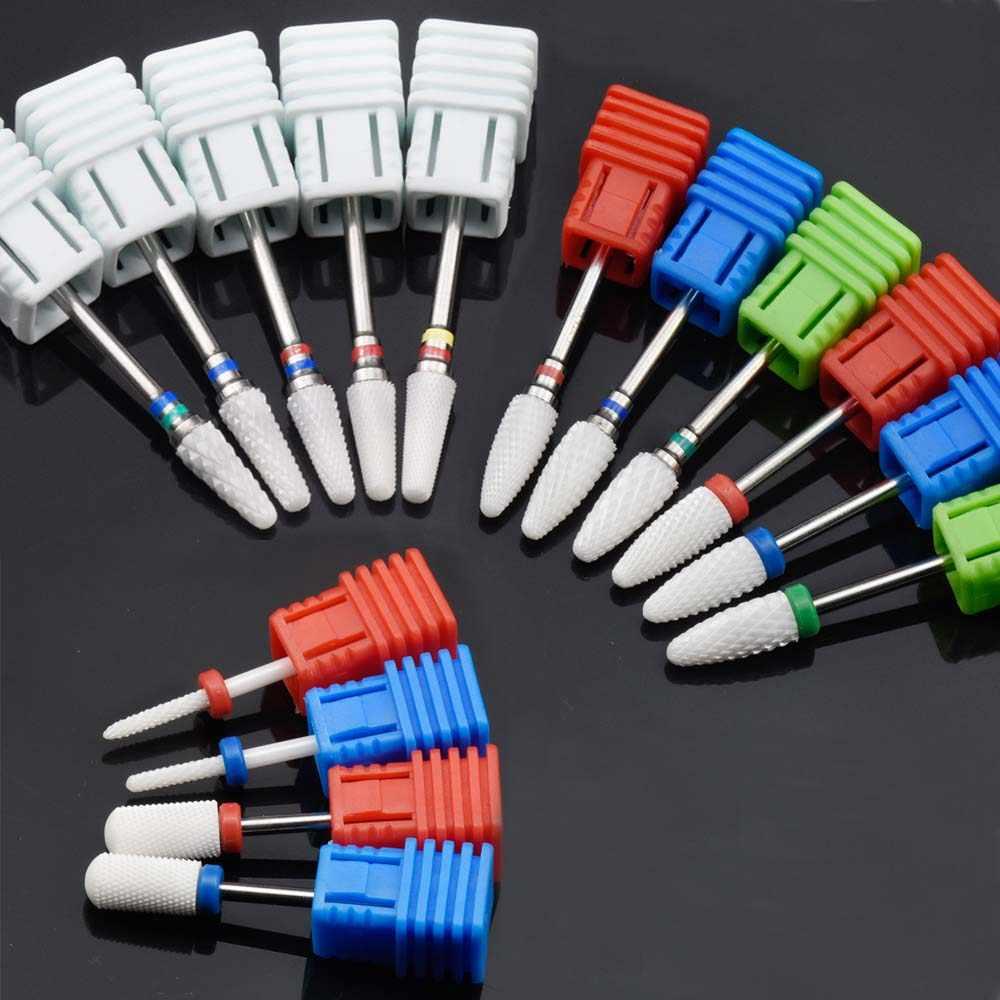 15 типов белых керамических сверл для ногтей фреза электрической дрели